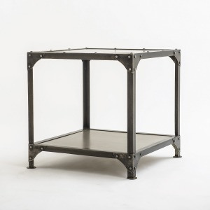 Element End Table-Nickel/Ant Nickel