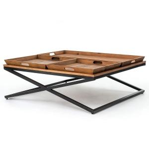 Jax Sq Coffee Table-Antq Bleach Seal/Wx