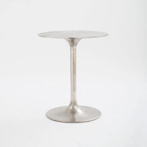 Tulip Side Table-Raw Nickel