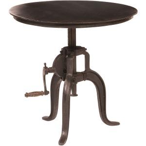 Rockwell Crank Adjustable Side Tbl-Black