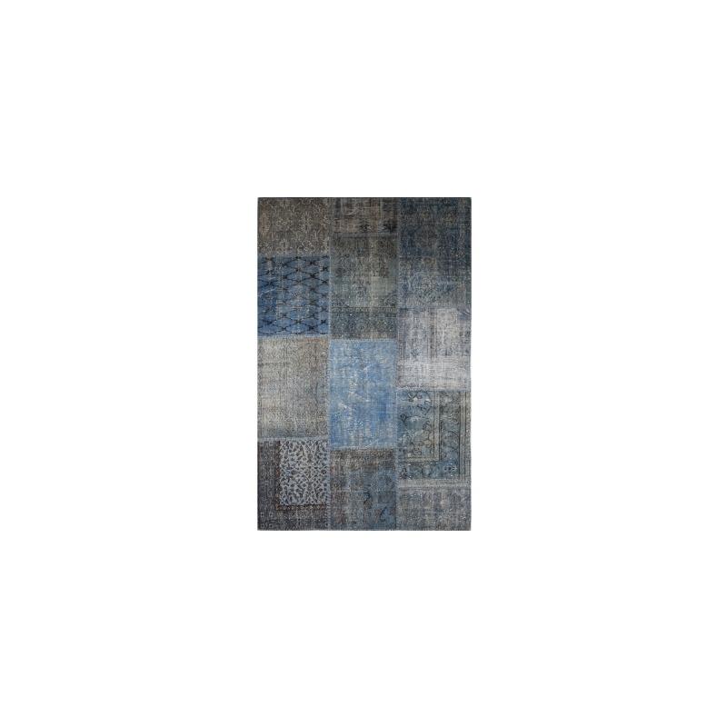 Patchwork Rug 9 X12 Indigo Blue By