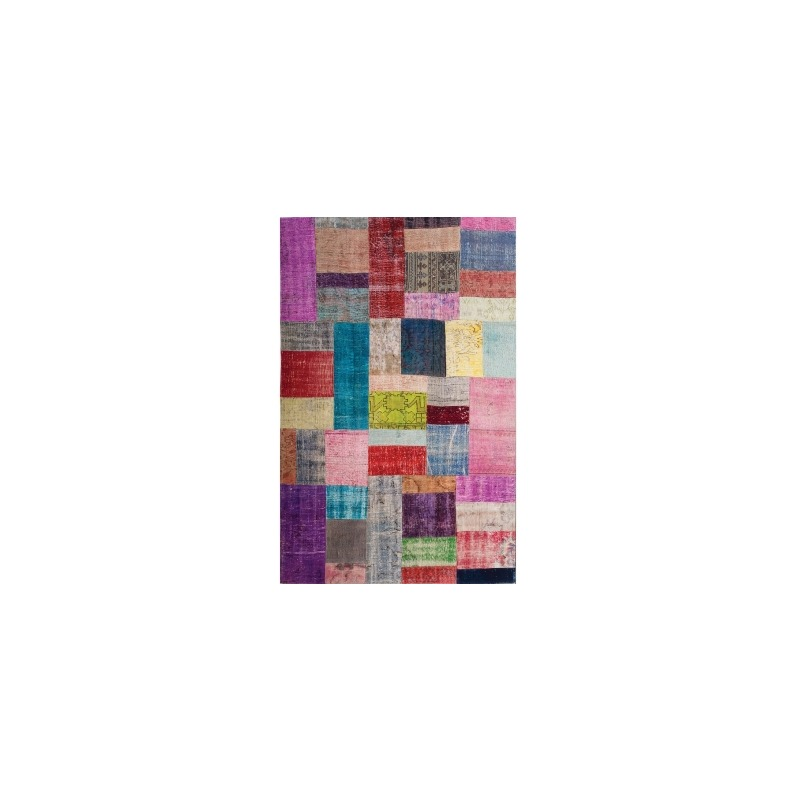 Patchwork Rug 9 X12 Multicolor By