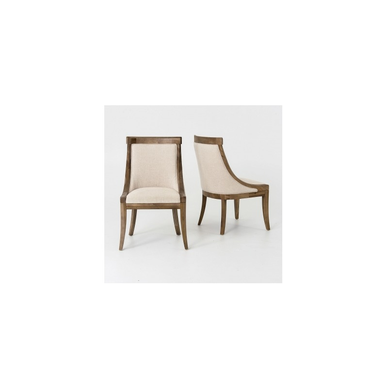 Florence Dining Chair Bespoke Natural By Four Hands Clin