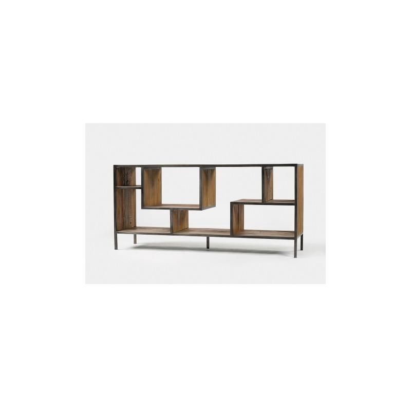 Helena Console Bookcase-Ant Blch Seal/Wa