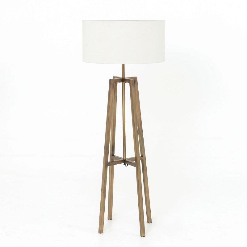 Lewis Floor Lamp-Brass