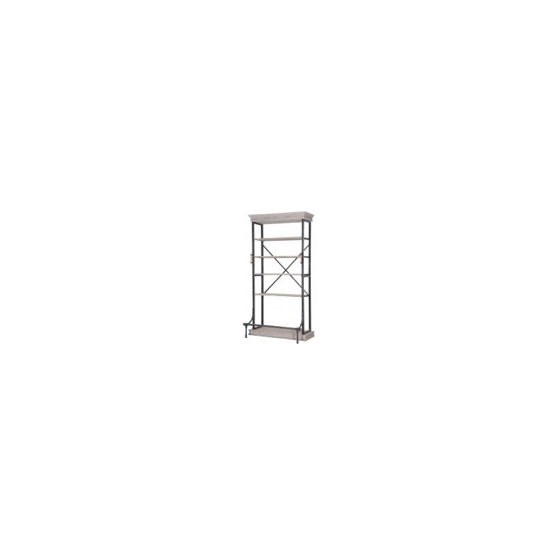 Braxton Single Bookcase-Washed Gry/Irn