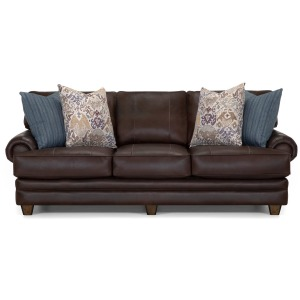 Monaco Leather Sofa - Pisa Dark Brown