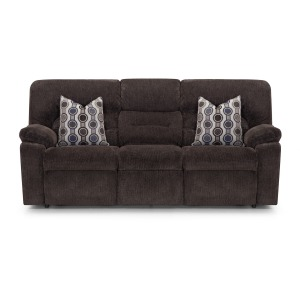 Tribute Dual Power Reclining Sofa w/ Drop Down Table, Lights, Drawer, USB - Bourbon Chocolate