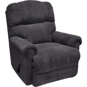 Captain Fabric Swivel Rocker Recliner - Smashing Slate
