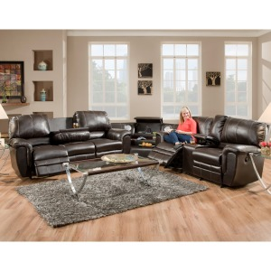 Addison Smart Blend Double Reclining Sofa w/Table