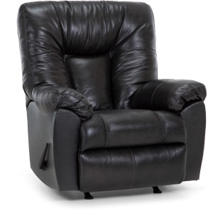 Connery Leather Swivel Rocker Recliner - Ranger Black Bean