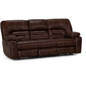 Gallagher Manual Reclining Sofa - Bonanza Smokey