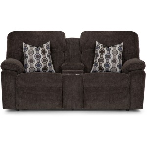 Tribute Dual Power Reclining Console Loveseat w/ USB - Bourbon Chocolate