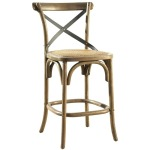 Bentwood Counter Stool with Metal Back