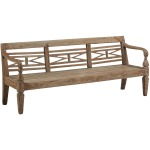Antique Plantation Grown Teak Bench
