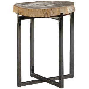 Cream Fossil Stone End Table