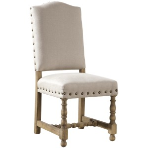 Linen Madrid Chair with Nailheads Manor