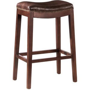 Leather Backless Counter Stool
