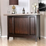 Bismarck Bar Table w/Genuine Marble Top