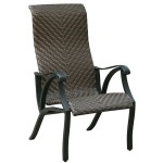Chiara I Faux Wicker Arm Chair - Set of 2
