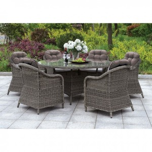 """Canistota 59"""" Round Patio Dining Table"""