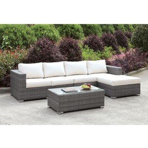 Somani L-Sectional w/Right Chaise & Coffee Table