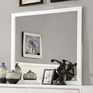 Enrico I Mirror - White
