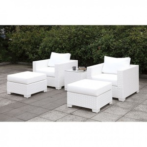 Somani II 2 Chairs & 2 Ottomans & End Table