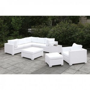 Somani II L-Sectional & Chair & 2 Ottomans