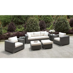 Somani Sofa & 2 Chairs & 2 End Tables & 2 Small Ottomans