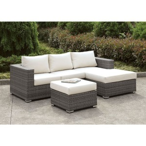 Somani L-Sectional w/Right Chaise & Ottoman