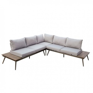 Evita Patio Sectional w/Corner Chair