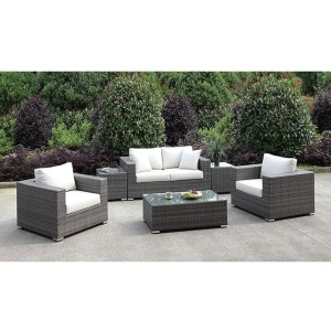 Somani Loveseat & 2 Chairs & 2 End Tables & Coffee Table