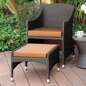Almada Arm Chair w/Nesting Ottoman