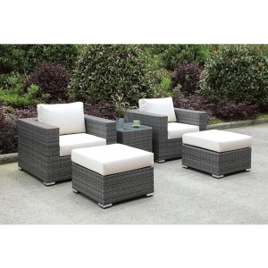 Somani 2 Chairs & 2 Ottomans & End Table