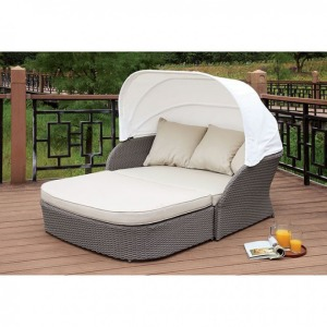 Aida Patio Canopy Daybed & Ottoman