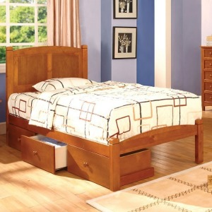 Cara Full Bed - Oak