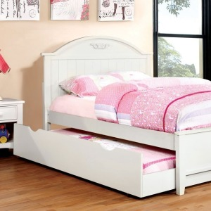 Medina Twin Bed - White