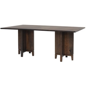 Soma Double Pedestal Table