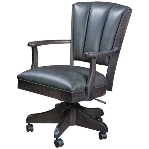 Livonia Channel Desk Chair - Leather