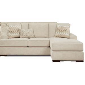 Handwoven Parchment Sofa Chaise