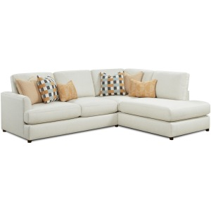 Treaty Linen 2 PC Sectional Sofa Chaise