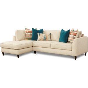 2 PC Sectional - Rocksalt Grain