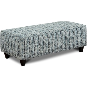 Highrise Indigo Cocktail Ottoman