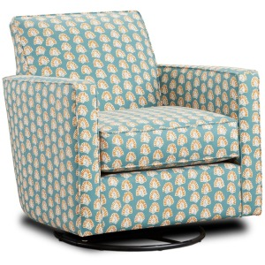 Kola Stencil Jasper Swivel Glider Chair