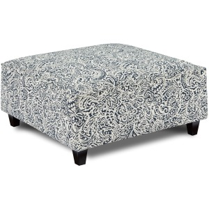 Lillian Denim Cocktail Ottoman