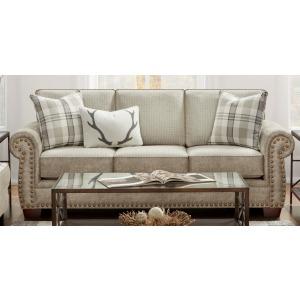 Northwest Paloma Grey Austin Linen Sofa