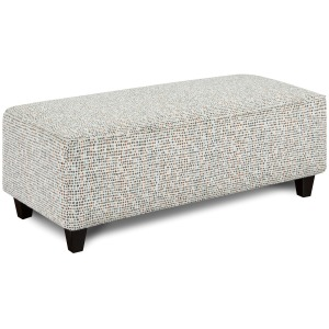 Glitter Orange Cocktail Ottoman