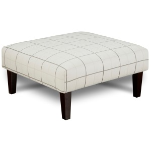 Windowpane Chalk Cocktail Ottoman