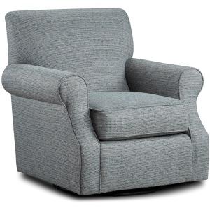 Branco Teal Swivel Chair